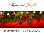 merry christmas  holidays... | Shutterstock . vector #1244390647