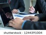 professional investor meeting... | Shutterstock . vector #1244391004