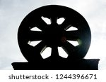 wheel of dharma is a symbol of... | Shutterstock . vector #1244396671