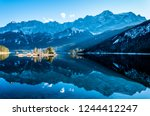 famous eibsee lake in front of... | Shutterstock . vector #1244412247