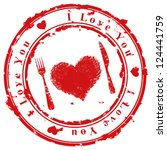 love stamp | Shutterstock .eps vector #124441759