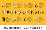 business partnership line art ... | Shutterstock .eps vector #1244425957