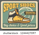 basketball sportswear shop... | Shutterstock .eps vector #1244427097