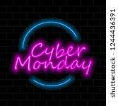 cyber monday sale image. vector ... | Shutterstock .eps vector #1244436391