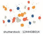 hand drawn set of colorful ink... | Shutterstock .eps vector #1244438014