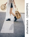 authentic street style.... | Shutterstock . vector #1244439541
