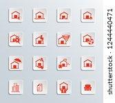 home insurance icons | Shutterstock .eps vector #1244440471