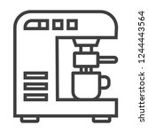 modern thin line icon of coffee ... | Shutterstock .eps vector #1244443564