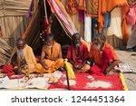 gangasagar  india 14 january... | Shutterstock . vector #1244451364