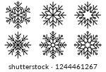 beautiful snowflake outline... | Shutterstock .eps vector #1244461267