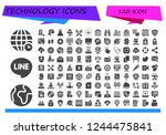 vector icons pack of 120 filled ... | Shutterstock .eps vector #1244475841