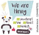 we are hiring design for social ...   Shutterstock .eps vector #1244487031