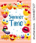summer time poster or postcard  ...   Shutterstock .eps vector #1244487127