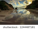 sky and cloud reflection and... | Shutterstock . vector #1244487181