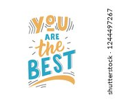 kids lettering phrase you are... | Shutterstock .eps vector #1244497267