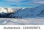 panorama of the alpine... | Shutterstock . vector #1244505871