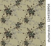 small floral seamless pattern... | Shutterstock .eps vector #1244508904