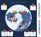 arctic map with countries... | Shutterstock .eps vector #1244518204