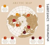 arctic map with countries... | Shutterstock .eps vector #1244518891