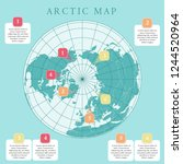 arctic map with countries... | Shutterstock .eps vector #1244520964