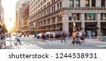 new york city street scene with ...   Shutterstock . vector #1244538931