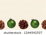 christmas composition.... | Shutterstock . vector #1244542537
