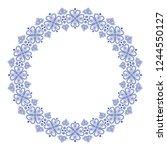 folklore floral nordic... | Shutterstock .eps vector #1244550127