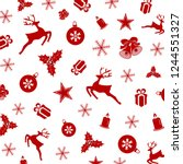 repeating seasonal decorative... | Shutterstock .eps vector #1244551327