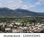 vaduz  liechtenstein on august... | Shutterstock . vector #1244552041