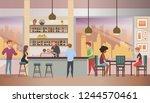 restaurant  pub or cafe... | Shutterstock .eps vector #1244570461