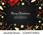merry christmas and happy new... | Shutterstock .eps vector #1244573401
