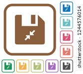 compress file simple icons in...   Shutterstock .eps vector #1244576014