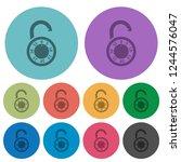 unlocked round combination lock ...   Shutterstock .eps vector #1244576047