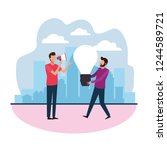 teamwork creative design | Shutterstock .eps vector #1244589721