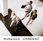 top angle view at... | Shutterstock . vector #1244606407