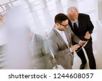 top view  of young businessman... | Shutterstock . vector #1244608057