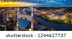 nashville skyline with stadium | Shutterstock . vector #1244627737