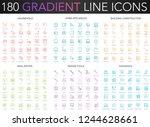 180 trendy gradient vector thin ... | Shutterstock .eps vector #1244628661