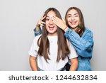portrait of two mixed race...   Shutterstock . vector #1244632834