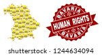 human rights collage of yellow... | Shutterstock .eps vector #1244634094