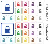 locked combination lock with...   Shutterstock .eps vector #1244641471