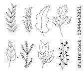 vector set of hand drawn doodle ... | Shutterstock .eps vector #1244642851