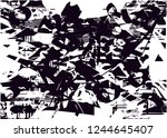 distressed background in black... | Shutterstock .eps vector #1244645407
