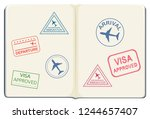inside of a passport... | Shutterstock .eps vector #1244657407