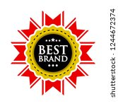 best brand in gold insignia or... | Shutterstock .eps vector #1244672374