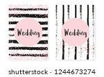 pink glitter sequins with dots. ... | Shutterstock .eps vector #1244673274