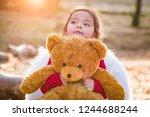 cute young mixed race baby girl ... | Shutterstock . vector #1244688244