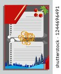 christmas greeting card with... | Shutterstock .eps vector #1244696491