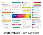 title index tmplete set color   Shutterstock .eps vector #1244696821