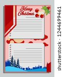christmas greeting card with...   Shutterstock .eps vector #1244699461